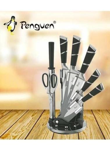 Penguen Png Yelpaze Bıçak Seti Renkli